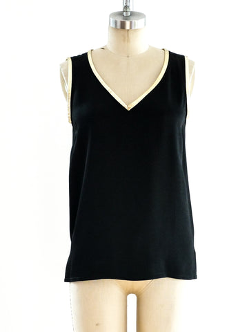 Yves Saint Laurent Silk Tank Top