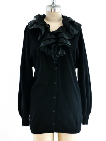Gucci Cardigan with Organza Collar