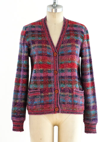 Missoni Rainbow Plaid Cardigan