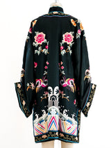 Hand Embroidered Chinese Silk Robe
