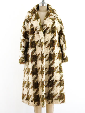 Lilli Ann Herringbone Tweed Coat
