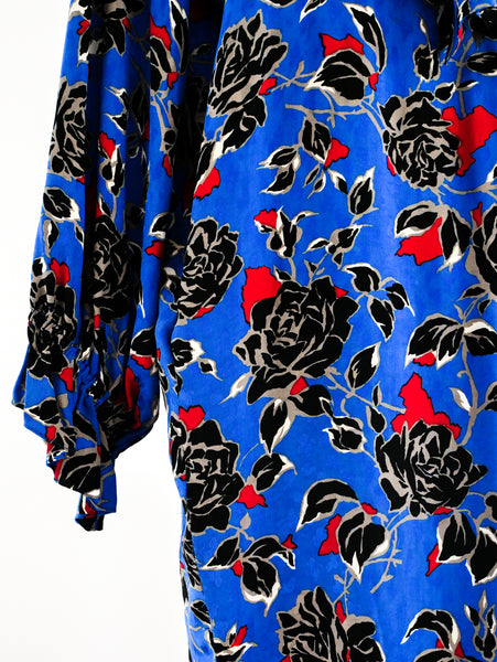 Yves Saint Laurent Rose Print Dress