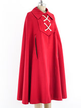 Nautical Inspired Red Cape