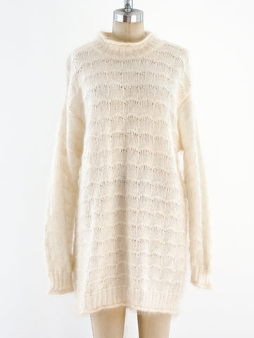 Ivory Mohair Knit Dress