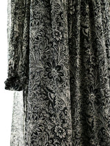 Ted Lapidus Floral Silk Chiffon Dress
