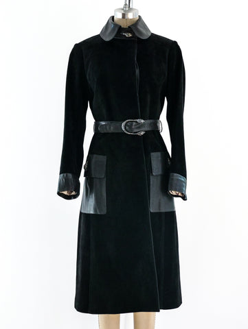 1970's Gucci Black Suede Coat