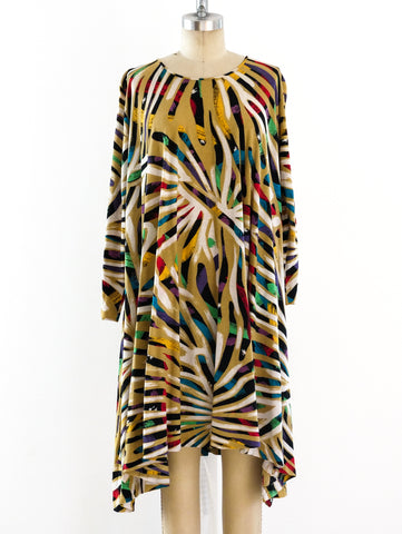 Missoni Brushstroke Print Jersey Dress