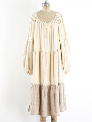 Laura Biagiotti Cashmere Tiered Dress