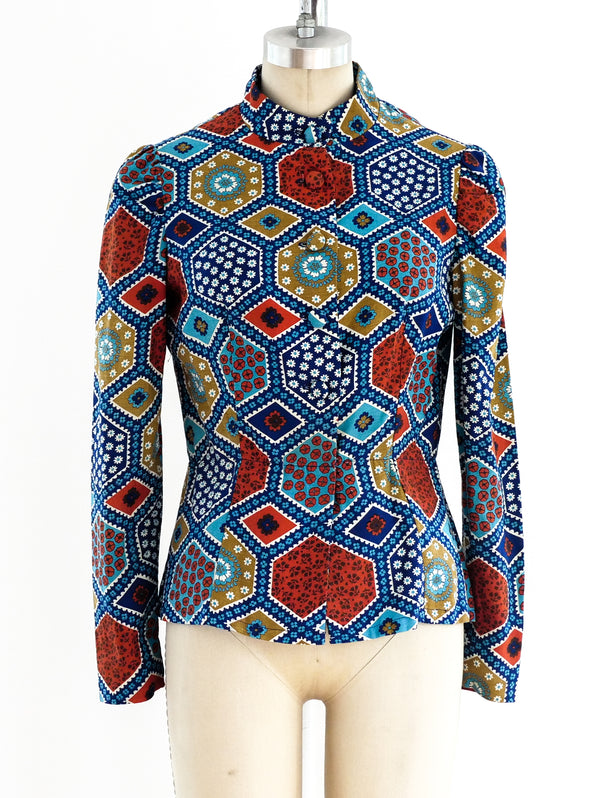 Malcolm Starr Patchwork Print Shirt