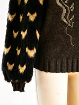 Faux Fur Sleeved Sweater