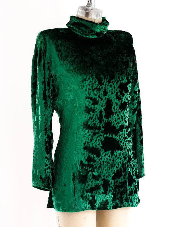 Ungaro Emerald Velvet Top