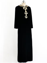 Malcolm Starr Black Velvet Maxi Dress