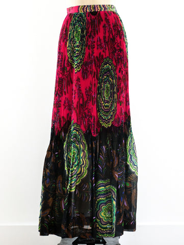 Lanvin Accordian Pleated Maxi Skirt