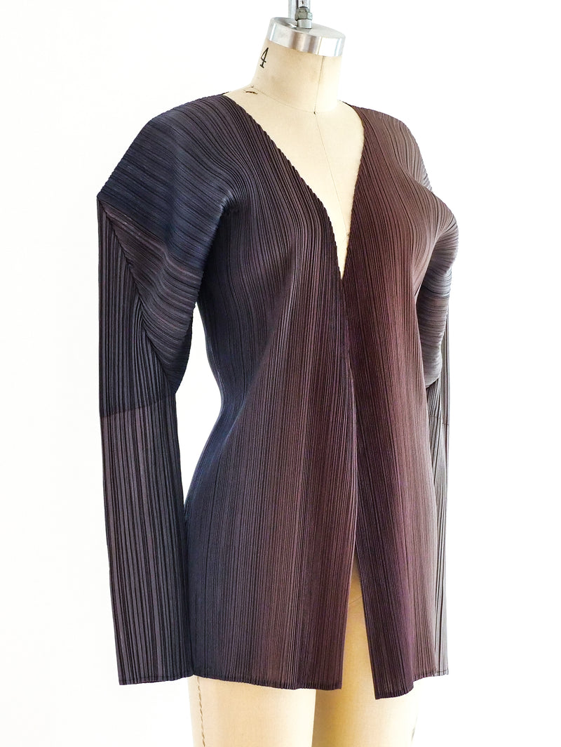 Issey Miyake Pleats Please Ombre Architectural Jacket