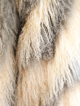 Striped Mongolian Lamb Fur Jacket
