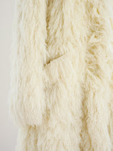Ivory Yarn Shag Jacket