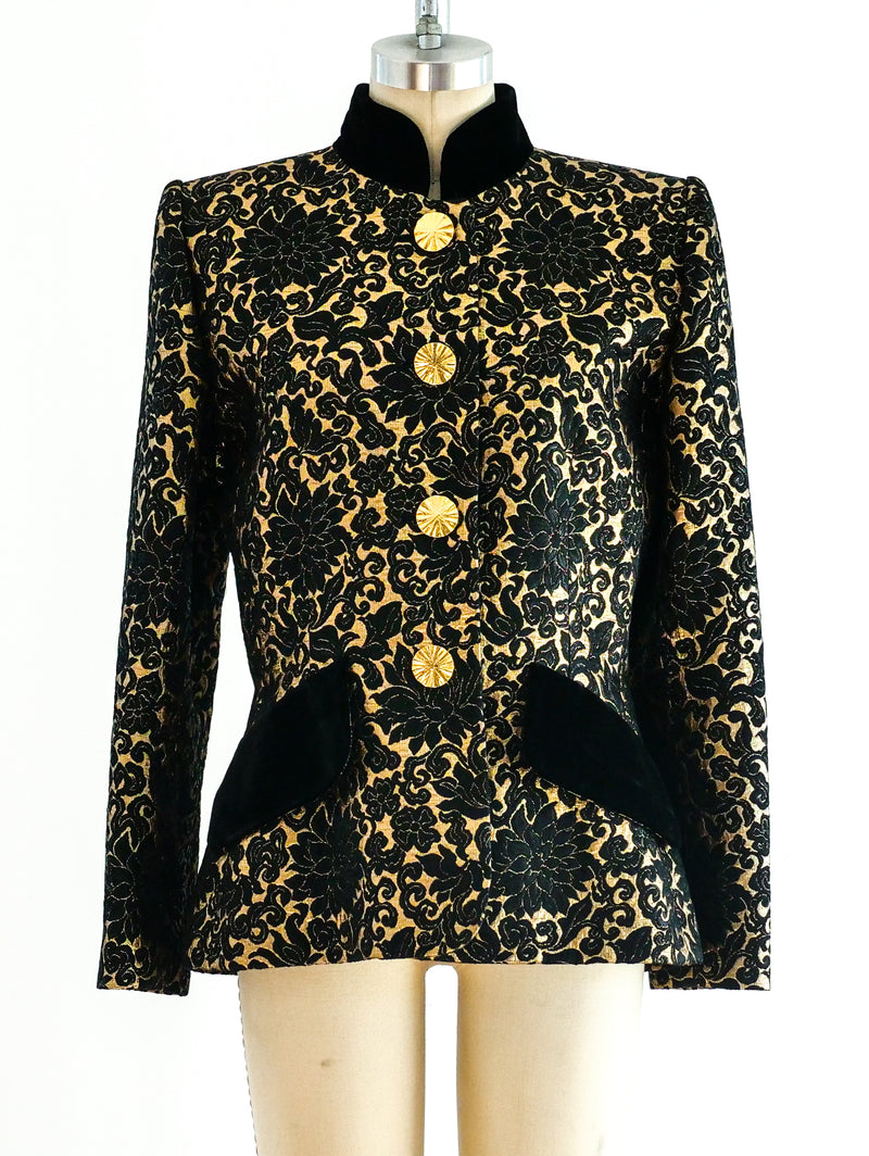 Givenchy Gold Brocade Jacket