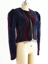 Hand Painted Quilted Velvet Jacket