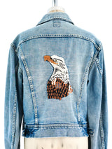 Eagle Embroidered Lee Denim Jacket