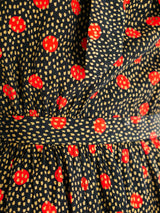 Yves Saint Laurent Red Dot Dress