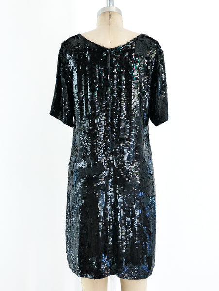 Ashish Black Sequin Mini Dress