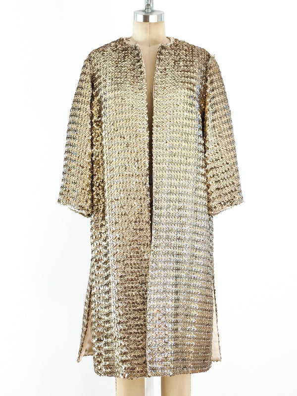1960's Gold Sequin Coat