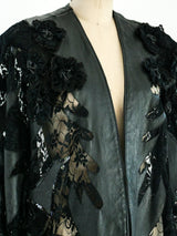 Leather and Lace Batwing Jacket
