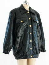 Quilted Black Leather Jacket