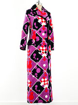 Geometric Printed Velvet Ensemble