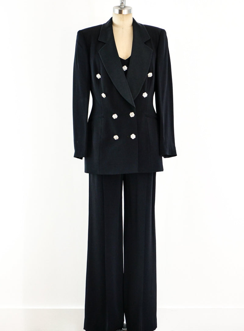 Gianfranco Ferre Black Pant Suit