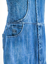 Chanel Quilted Denim Tank Dress
