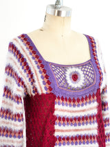 1970's Crochet Knit Sweater