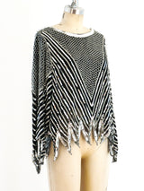 Silver Sequin Embellished Top