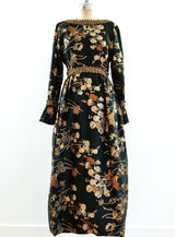 Metallic Floral Brocade Gown