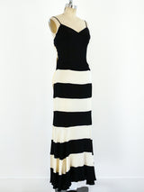 Moschino Graphic Striped Maxi Dress
