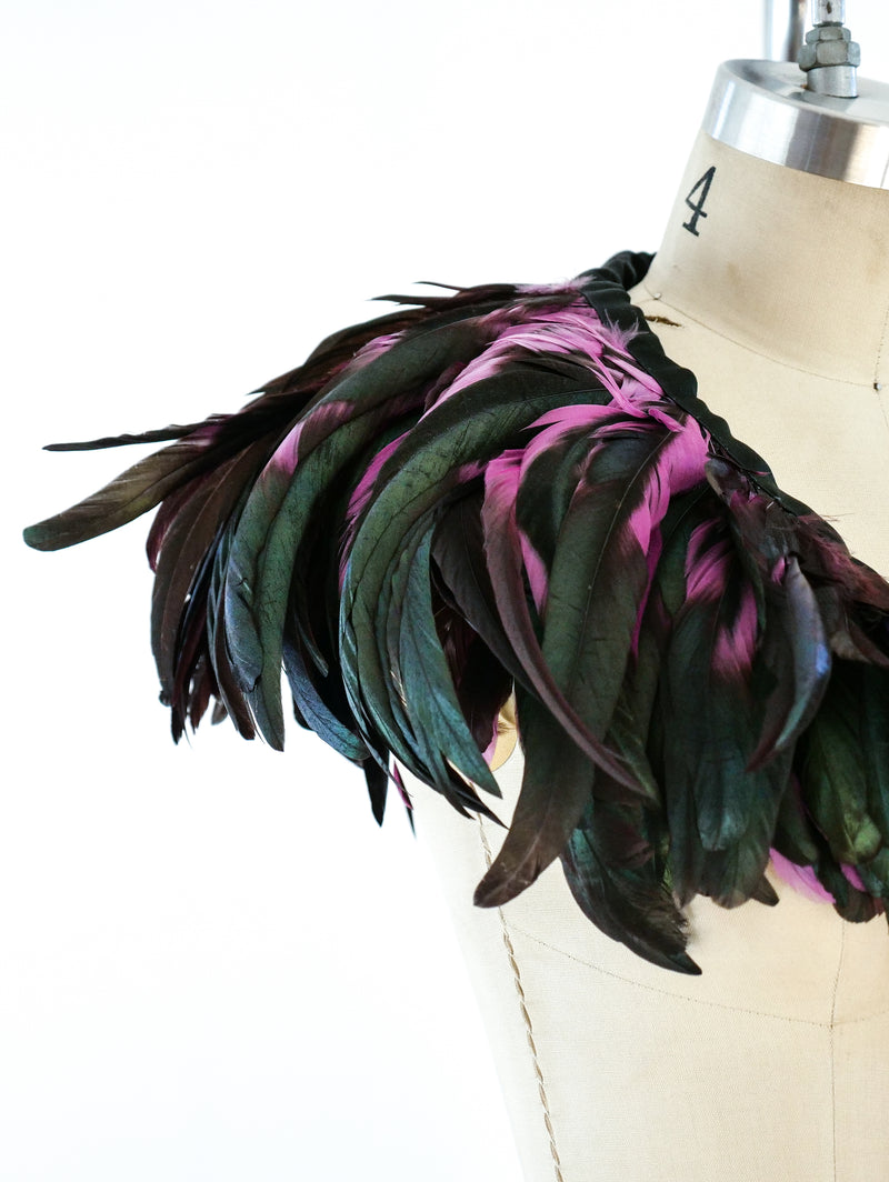 Yves Saint Laurent Feather Collar