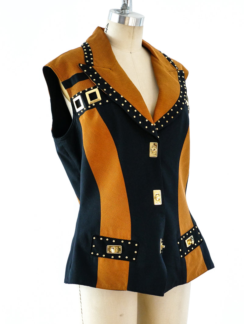 1980's Studded Sleeveless Jacket