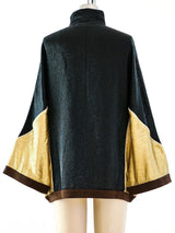 Gucci Metallic Zip Front Athletic Jacket