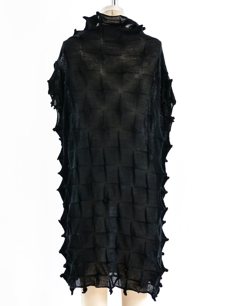 Issey Miyake Cauliflower Textured Knit Dress