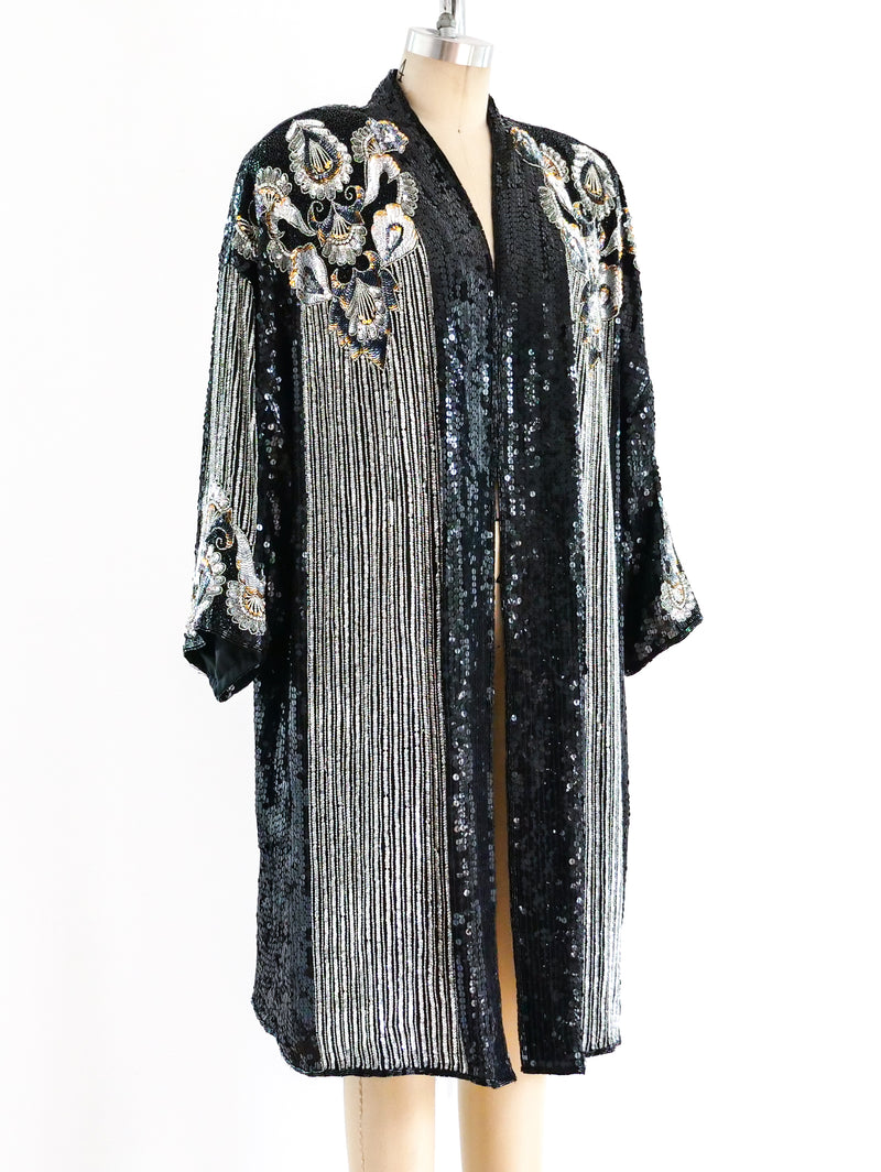 Fully Embellished Deco Inspired Duster