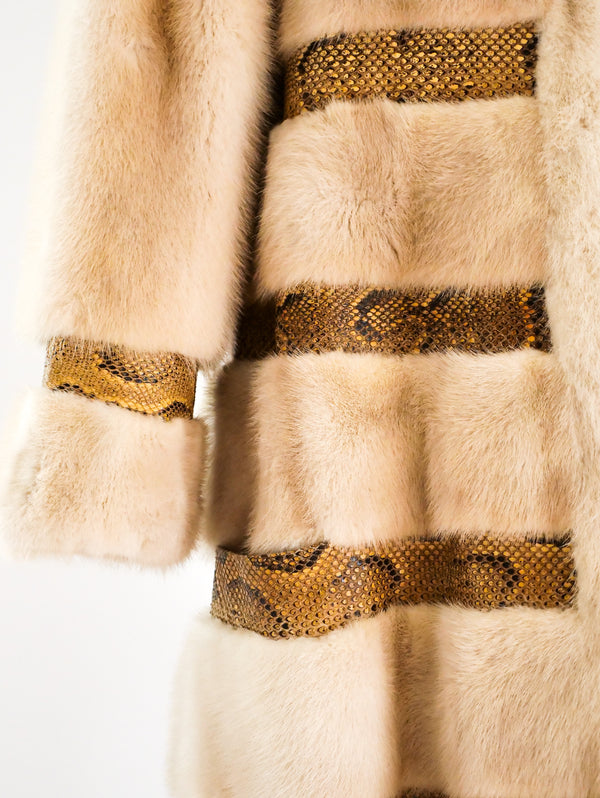 Christian Dior Mink and Python Coat