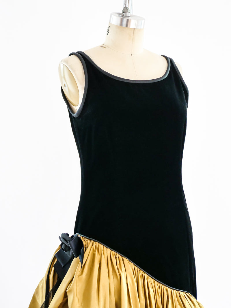 Yves Saint Laurent Ruffled Tank Dress