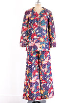 Bill Blass Multicolor Brocade Ensemble