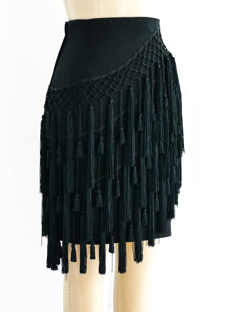 Gianni Versace Tassel Fringed Mini Skirt