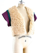 Curly Lamb Fur and Leather Vest