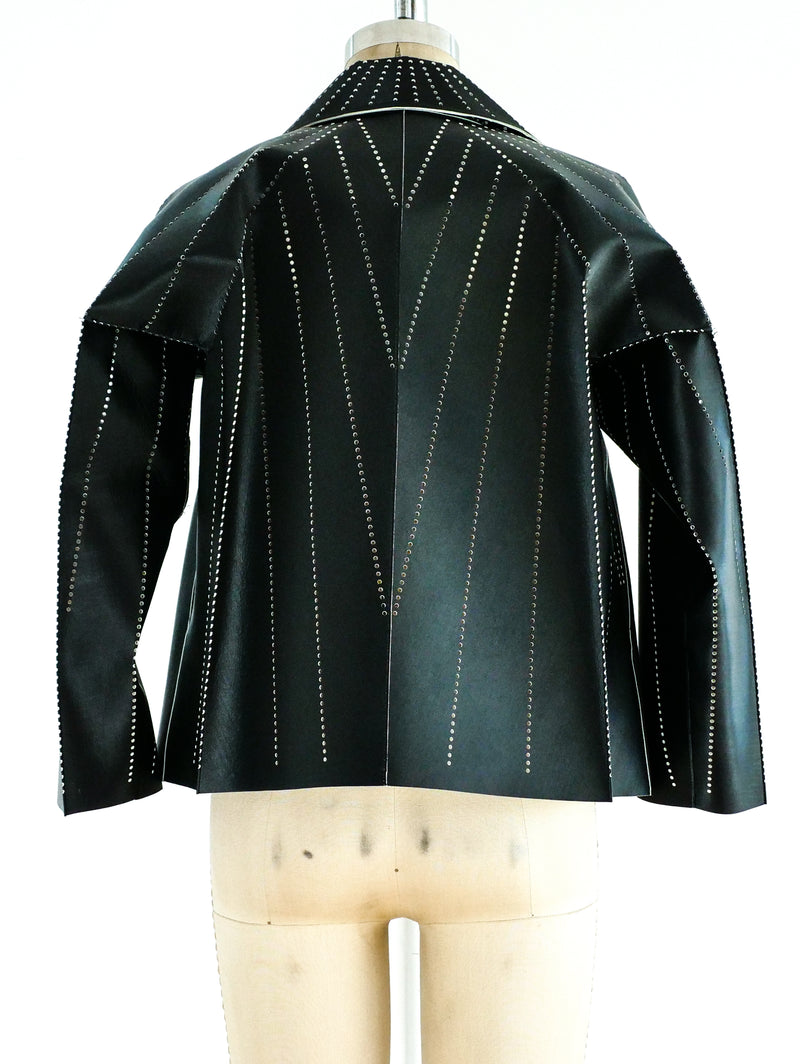 Issey Miyake Perforated Architectural Jacket