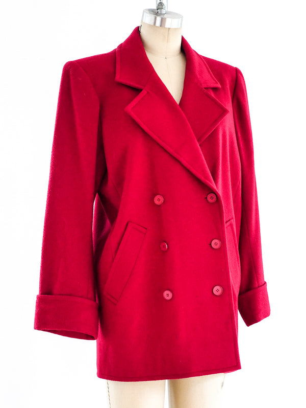 Yves Saint Laurent Red Wool Jacket