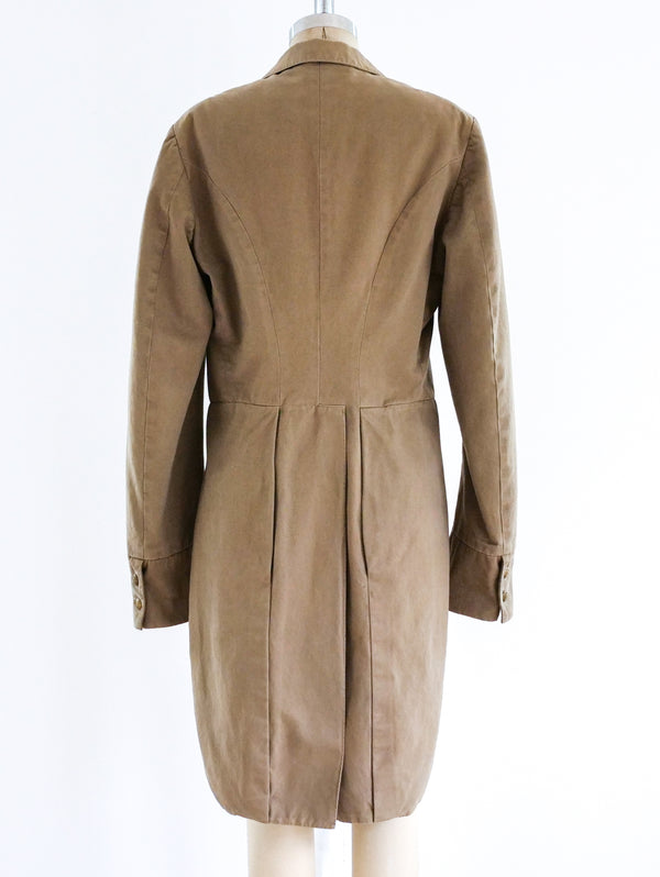 Dries Van Noten Khaki Tailcoat