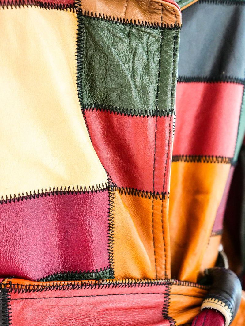 1970's Patchwork Leather Jacket