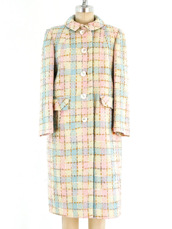 Pastel Tweed Coat